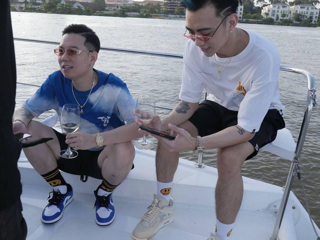 Châu Bùi vừa làm tiệc trên du thuyền, Binz cũng liền có động thái party nhún nhảy linh đình trên sông không hề kém miếng bạn gái? - Ảnh 5.