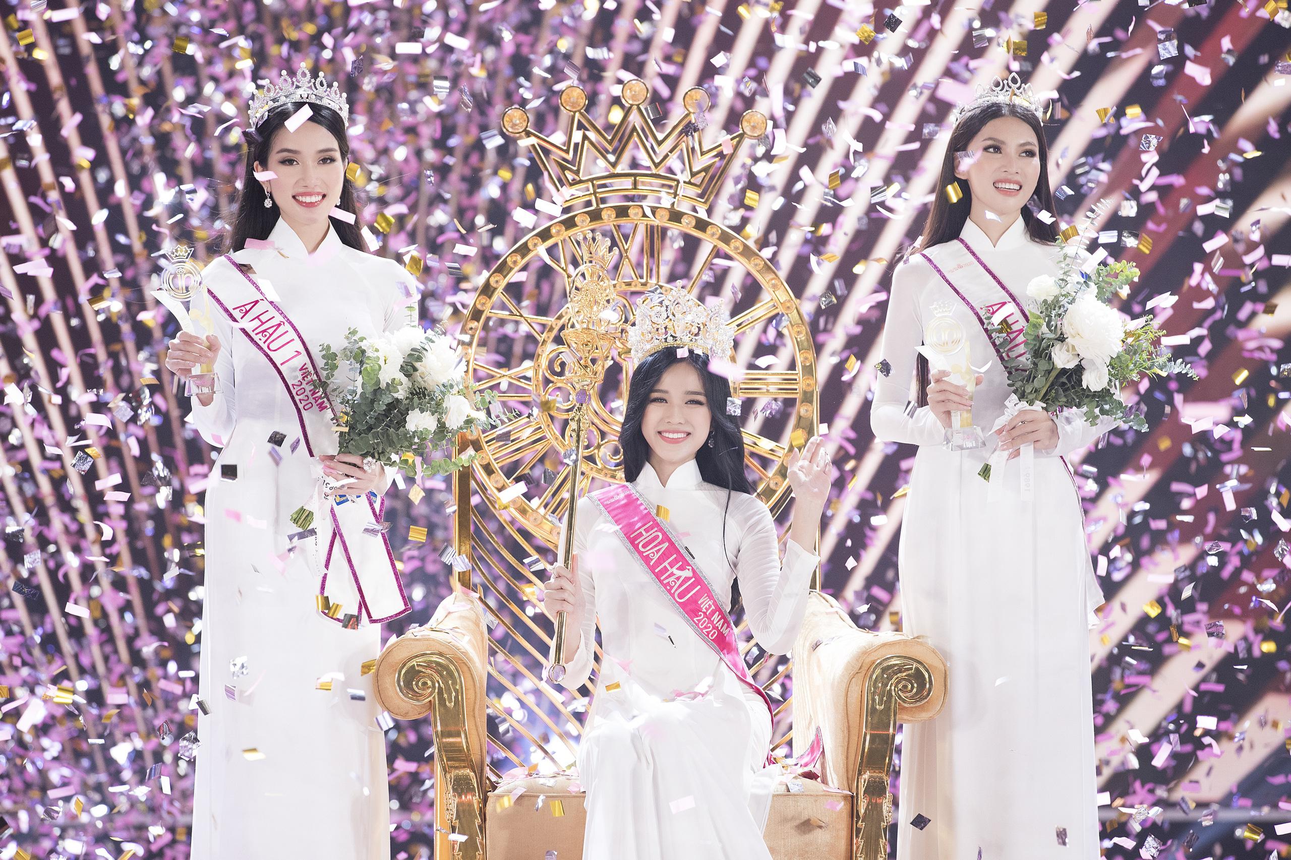 Chung kết HHVN 2020 chọn áo dài trắng nhạt nhoà làm trang phục đăng quang, khiến người xem thắc mắc: Giải Hoa khôi trường hay gì? - Ảnh 1.