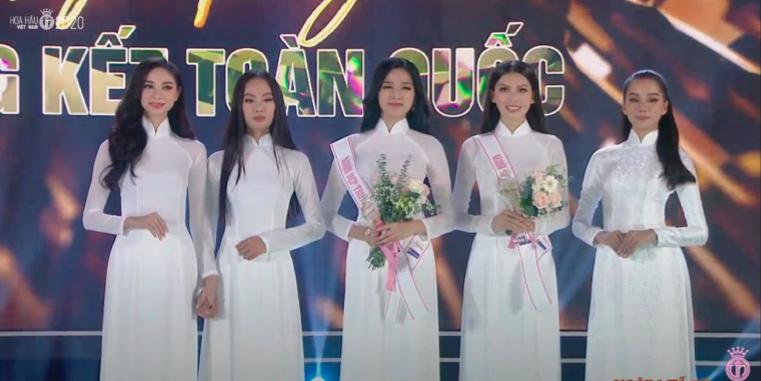 Chung kết HHVN 2020 chọn áo dài trắng nhạt nhoà làm trang phục đăng quang, khiến người xem thắc mắc: Giải Hoa khôi trường hay gì? - Ảnh 2.