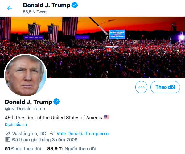 Twitter sẽ trao tài khoản Tổng thống cho Biden ngay cả khi Donald Trump không nhượng bộ - ảnh 1