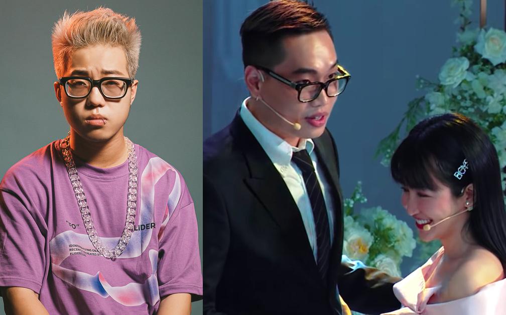"""Phản ứng đáng yêu của RichChoi khi thấy DJ Trang Moon lên show hẹn hò: """"Nhà mất nóc rồi các cụ ạ""""!"""