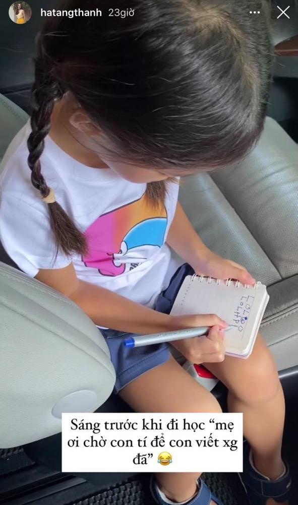 Chỉ với 2 bức ảnh, Hà Tăng đã khoe được thái độ của con gái đối với chuyện học hành - ảnh 1