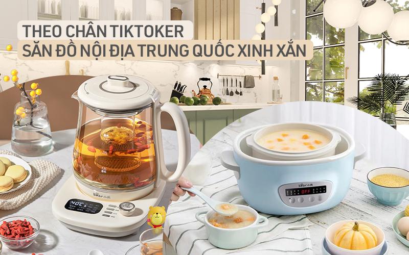 """Học theo TikToker Trung Quốc trang bị gian bếp """"xịn sò"""" toàn đồ 2-Tek"""