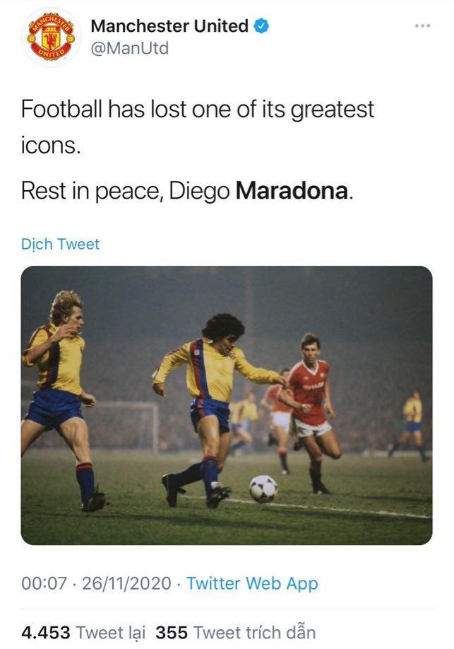 Các siêu sao thế giới tiếc thương huyền thoại Maradona: Vua bóng đá Pele muốn sau này được chơi bóng cùng Maradona trên thiên đàng - ảnh 3
