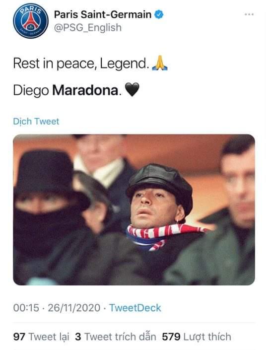 Các siêu sao thế giới tiếc thương huyền thoại Maradona: Vua bóng đá Pele muốn sau này được chơi bóng cùng Maradona trên thiên đàng - ảnh 4