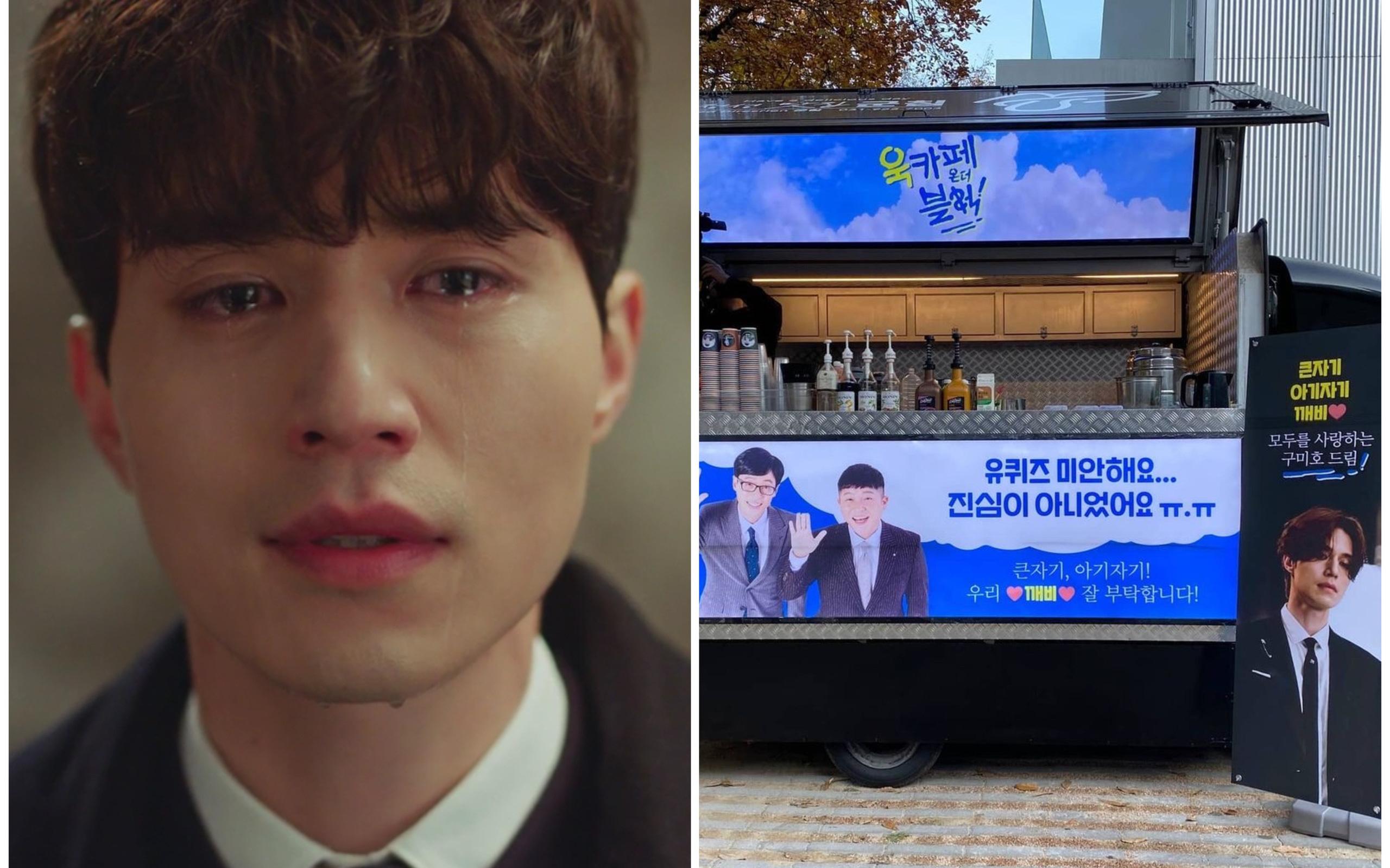 Lee Dong Wook gửi xe cà phê đến xin lỗi một ekip nọ, biết lý do ai cũng phải thốt lên: Anh đã đẹp lại còn khéo