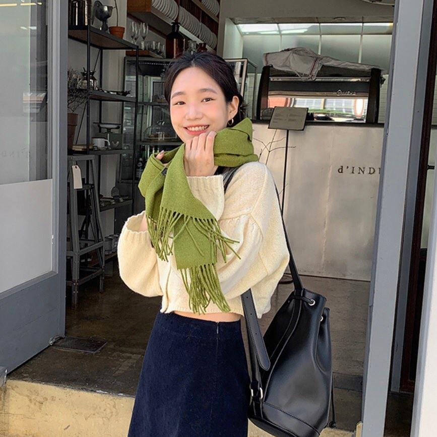 Sao Hàn đã rục rịch diện toàn khăn len đẹp ngất, các nàng còn không mau vào tham khảo cách phối đi nào - Ảnh 8.