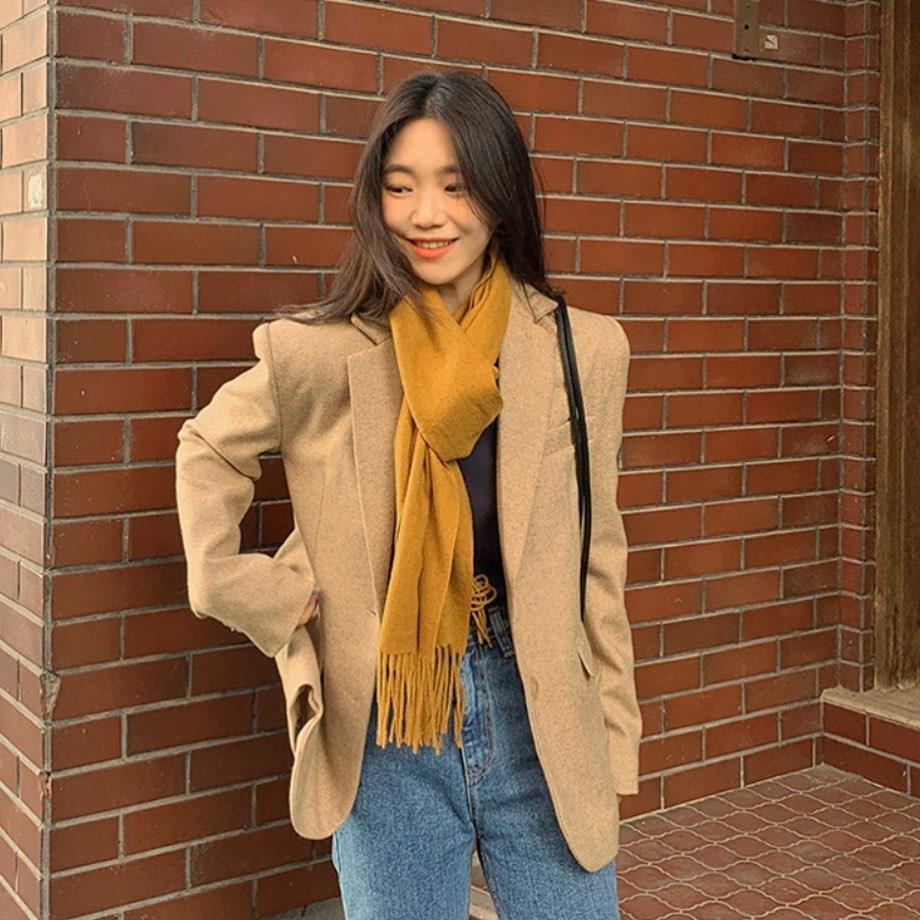 Sao Hàn đã rục rịch diện toàn khăn len đẹp ngất, các nàng còn không mau vào tham khảo cách phối đi nào - Ảnh 10.