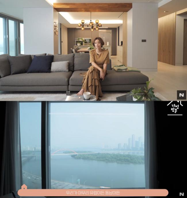 Mẹ Kim Tan Kim Sung Ryung khoe căn hộ cao cấp ở với chồng đại gia: View sông Hàn, bàn ăn khổng lồ khiến khách mời rớt hàm - ảnh 1
