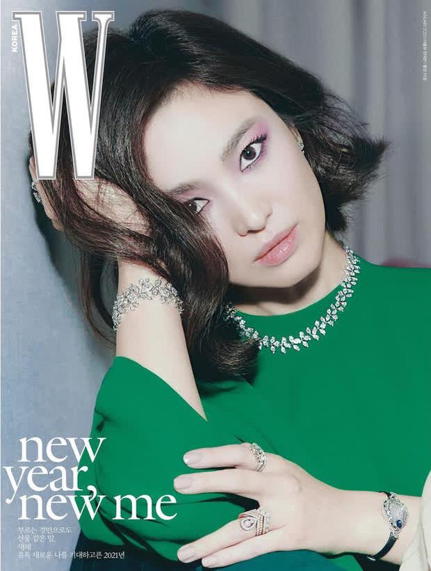 Đụng hàng hiệu trên tạp chí: Song Hye Kyo sắc lạnh, Đường Yên gây tranh cãi với style bù xù - Ảnh 2.