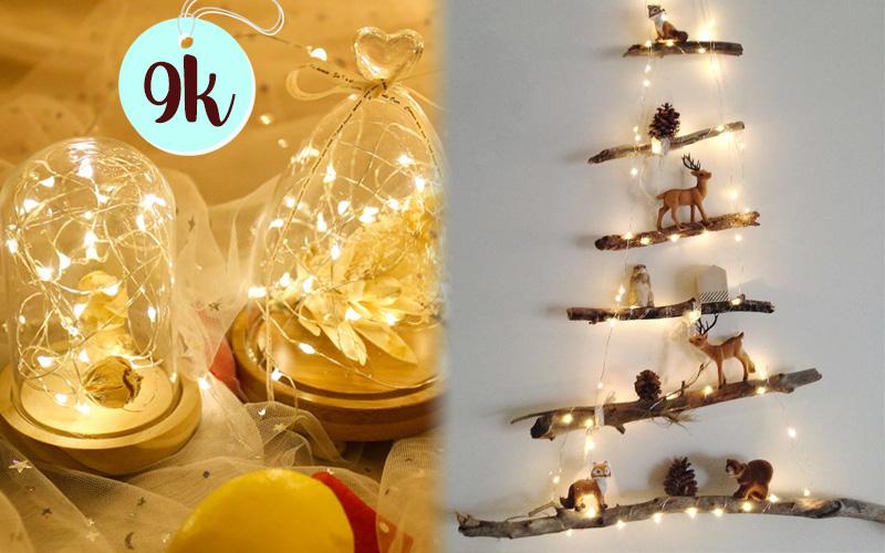 Noel lung linh là phải sắm dây đèn trang trí, có loại giá chỉ 9k cho bạn chọn
