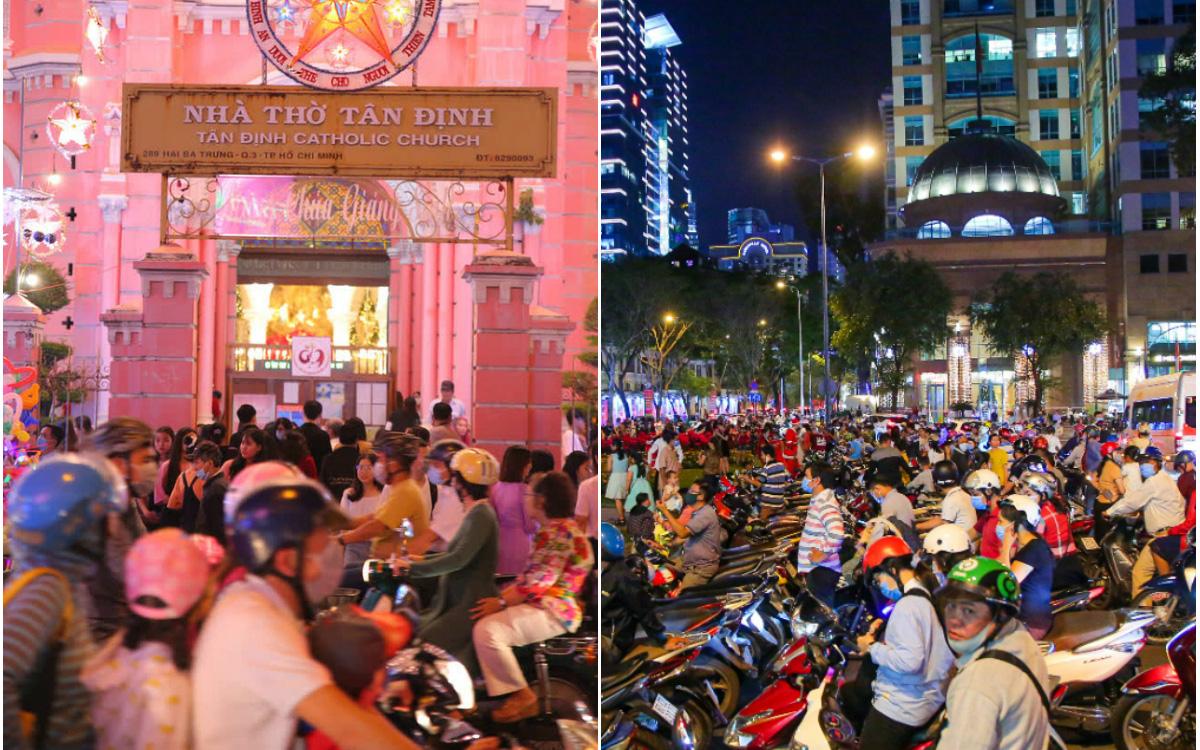4 nhà thờ nức tiếng Sài Gòn đông nghẹt người đêm Noel, bà bán nước cũng lắc đầu: