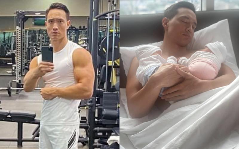 """Kim Lý khoe ảnh tập gym để có được cánh tay """"đủ ẵm 2 bé sinh đôi"""", nhưng có cần phải cuồn cuộn cơ bắp thế này không?"""