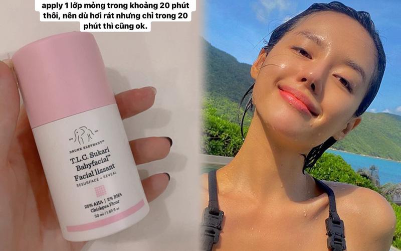 """""""Bảo bối"""" tẩy da chết hóa học 2 triệu của Khánh Linh: Dùng là da mịn căng cực kỳ đáng sắm"""