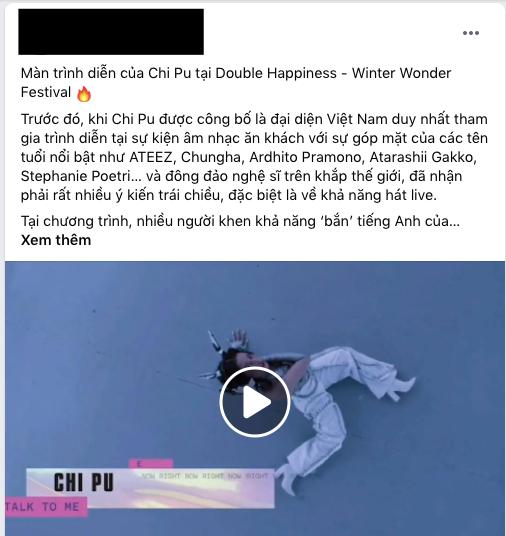 Tranh cãi về màn trình diễn của Chi Pu tại sự kiện quốc tế: Khen nhạc cuốn nhưng chê hát nhép thôi mà cũng không khớp! - ảnh 1