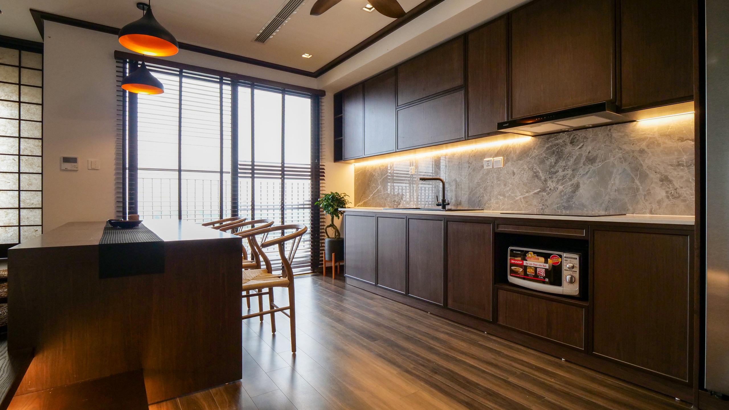 Căn hộ Vinhomes với phong cách Nhật Bản tinh tế và tiện nghi, ăn tiền nhất là view đắt giá bao trọn VinUni - Ảnh 5.