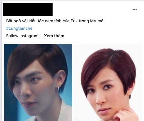 Erik tự dưng để tóc tém mái chéo, dân mạng chết cười vì quá giống Xa Thi Mạn, Thu Trang rồi cả Tóc Tiên cũng được gọi tên - ảnh 4