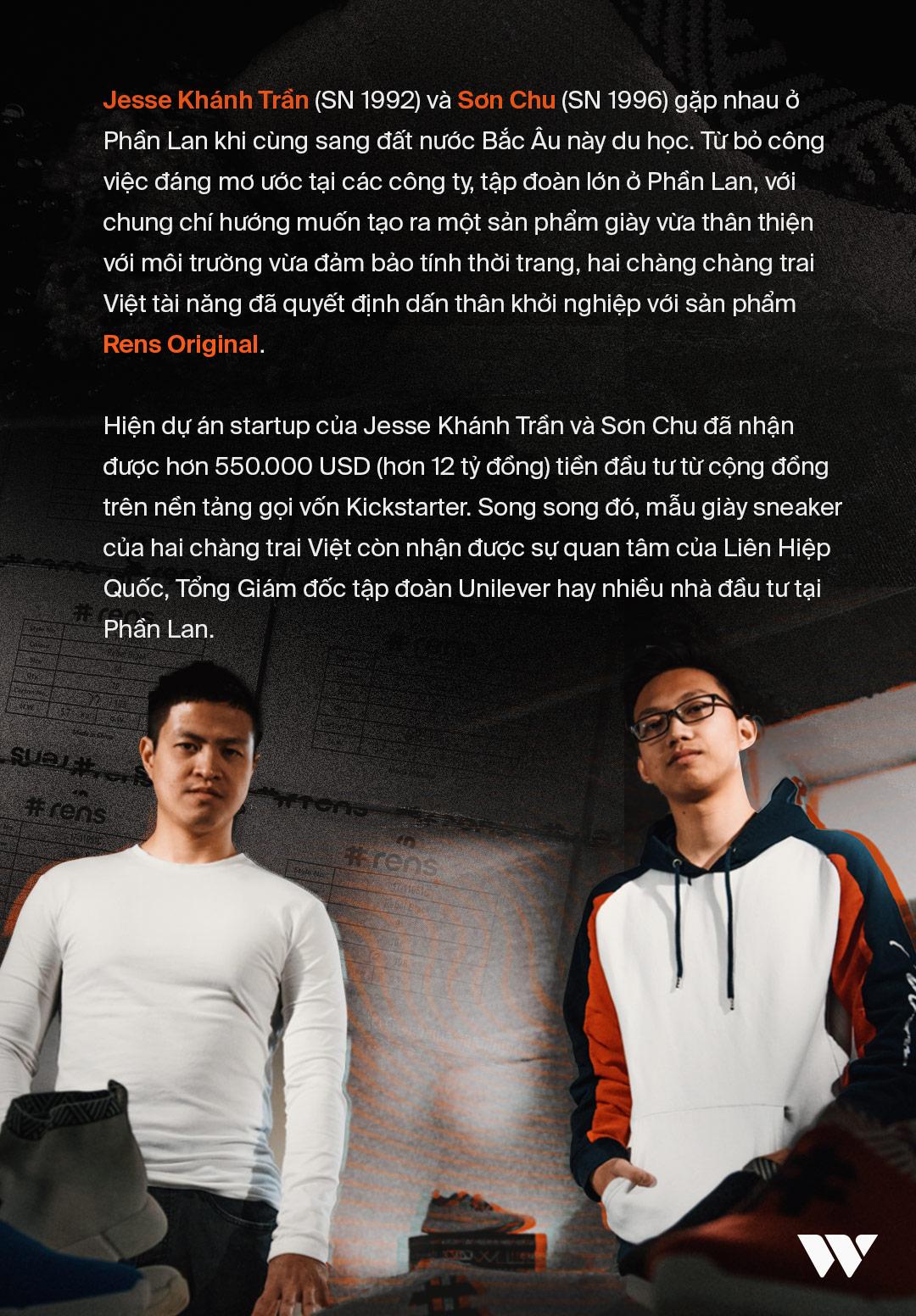 Jesse Khánh Trần và Sơn Chu: Bước ra thế giới với những đôi giày làm từ bã cafe và chai nhựa - Ảnh 3.