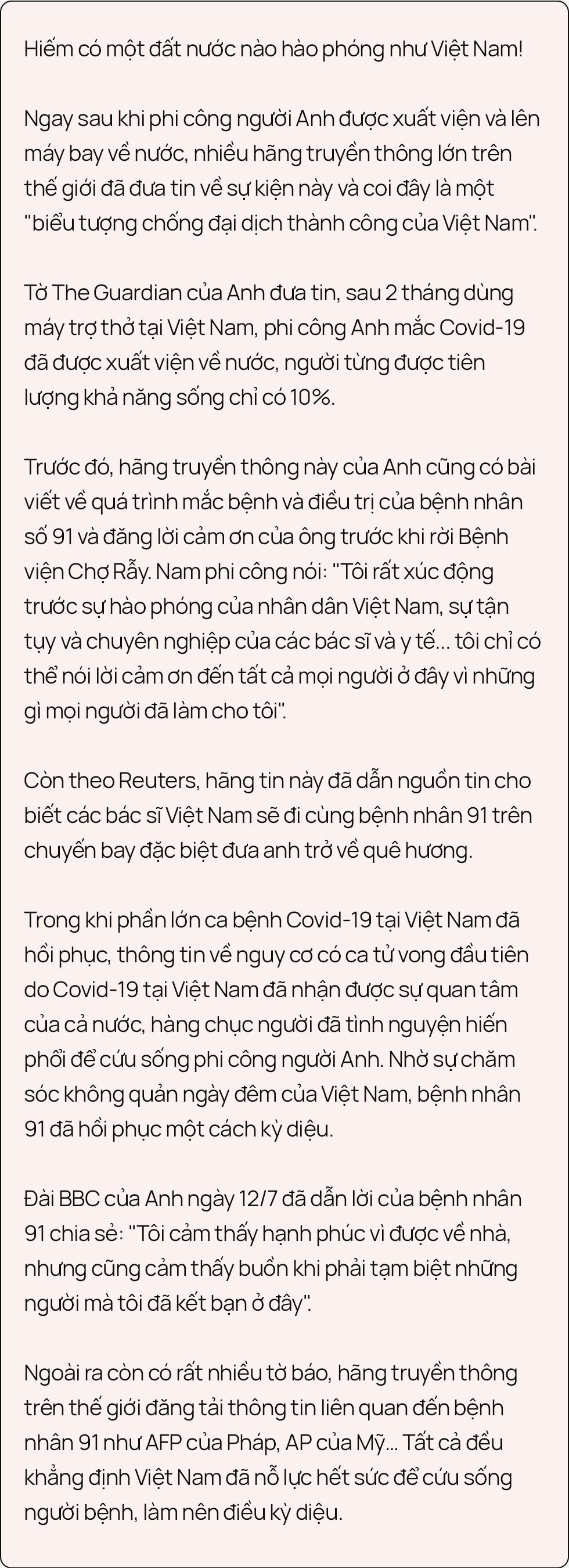 """Ký ức 116 ngày làm nên kỳ tích của nền y học Việt Nam, đưa bệnh nhân 91 nhiễm Covid-19 từ cõi chết trở về: """"Đó là điều đặc biệt nhất trong cuộc đời bác sĩ của chúng tôi"""" - Ảnh 22."""