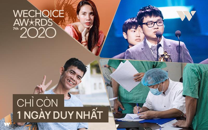 Chỉ còn 24 giờ nữa để bình chọn cho đề cử bạn yêu thích nhất tại WeChoice Awards 2020!