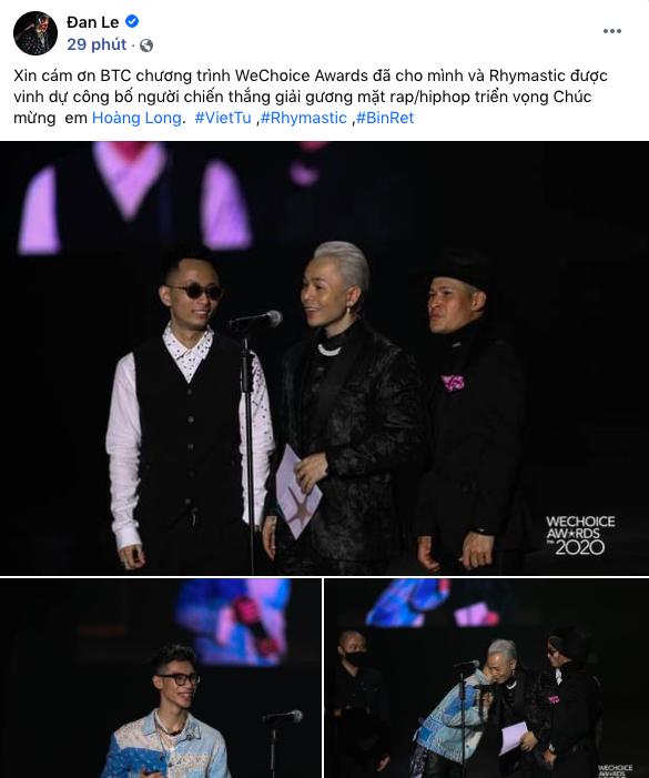 Cả Vbiz rần rần về Gala WeChoice Awards 2020: Binz vinh dự, Thuỷ Tiên nghẹn ngào và hàng loạt thông điệp được lan toả - ảnh 2