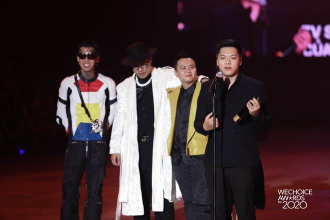 Rap Việt đại thắng tại WeChoice Awards 2020, Binz - Dế Choắt - MCK đều có giải mang về - ảnh 1