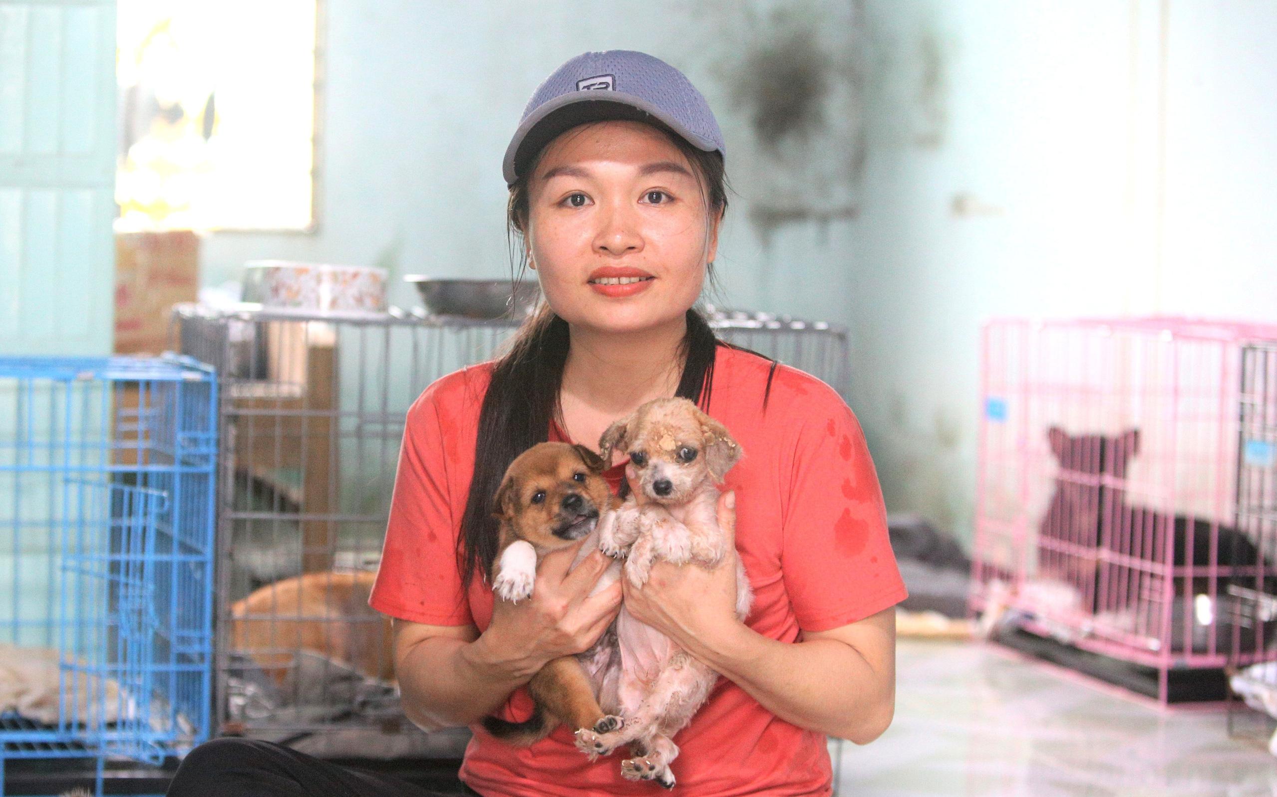 """Người phụ nữ bán nhà để được làm """"mẹ"""" của hàng trăm chú chó mèo bị bỏ rơi ở Đà Nẵng"""