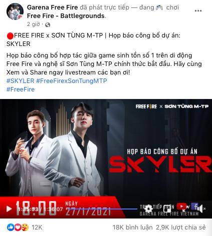 Garena Free Fire cũng vạ lây vì drama trà xanh: Fanpage bị netizen tấn công tới tấp sau sự kiện ra mắt có Sơn Tùng - ảnh 1