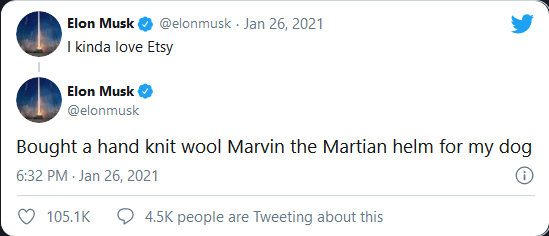 Dòng tweet của Elon Musk lại làm cổ phiếu một công ty ít tên tuổi tăng vọt - ảnh 1