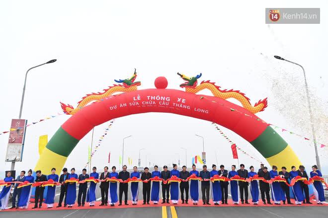Thông xe cầu Thăng Long trở lại sau 4 tháng sửa chữa - Ảnh 4.