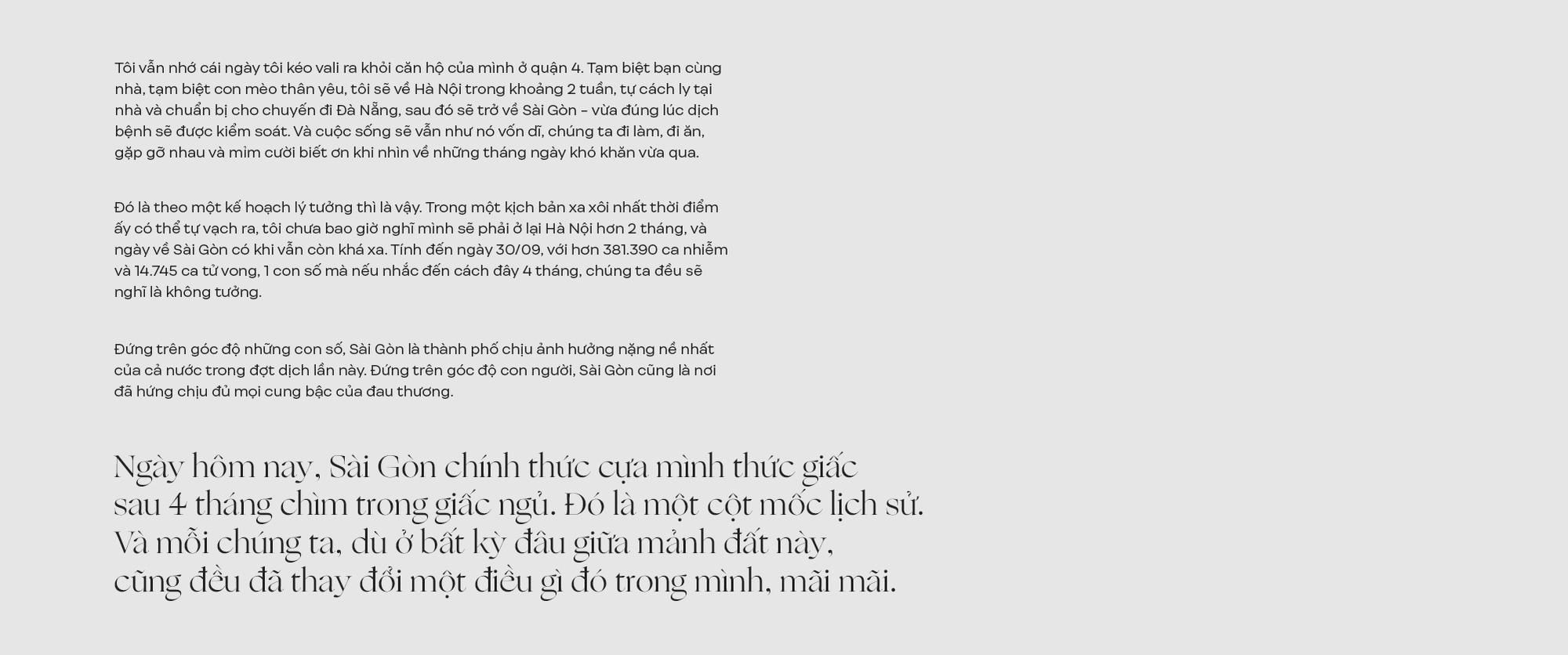 Sài Gòn, ngày thức giấc! - Ảnh 1.