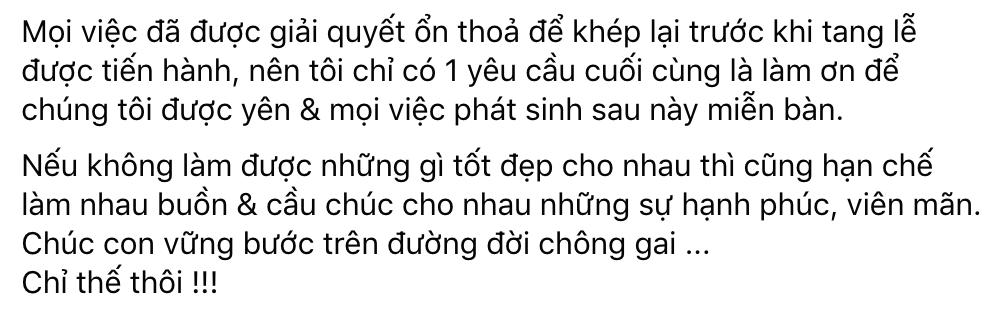 Phía ekip làm rõ đã giải quyết ổn thoả mọi việc với Hồ Văn Cường trước tang lễ cố NS Phi Nhung, vấn đề phát sinh sẽ giải quyết thế nào? - Ảnh 1.