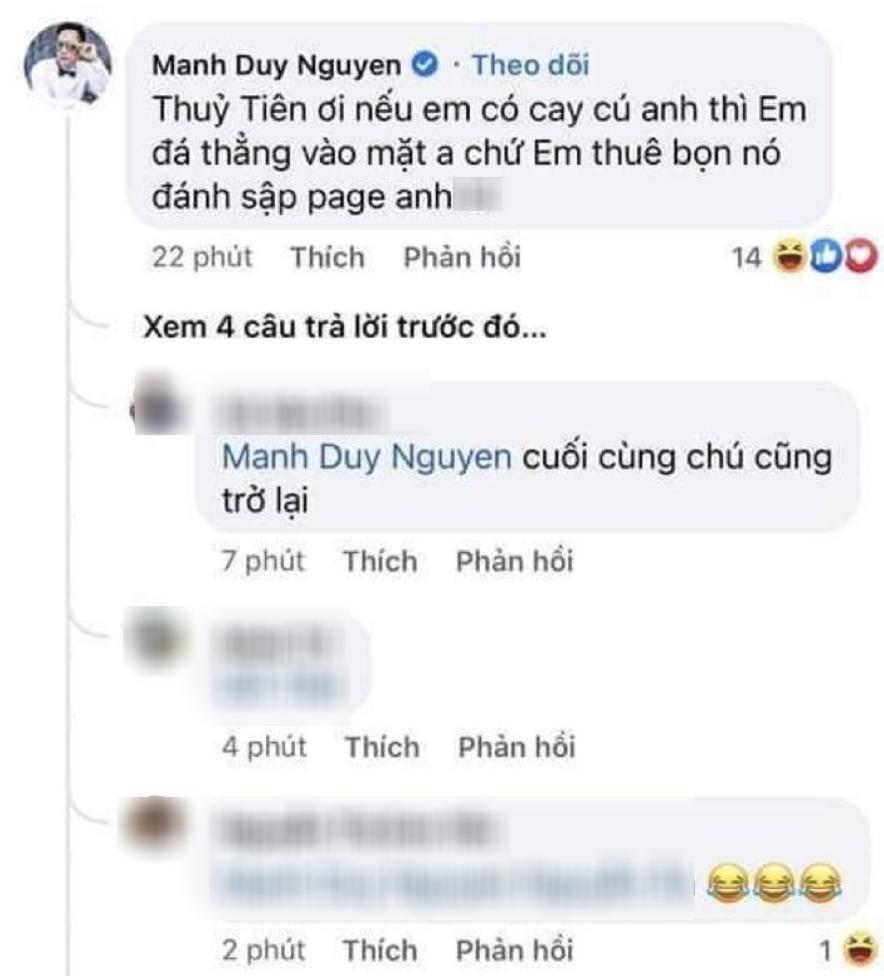 Độc Quyền: Rộ nghi vấn Duy Mạnh tố Thuỷ Tiên - Trấn Thành đánh sập Facebook cá nhân, chính chủ lên tiếng! - Ảnh 4.