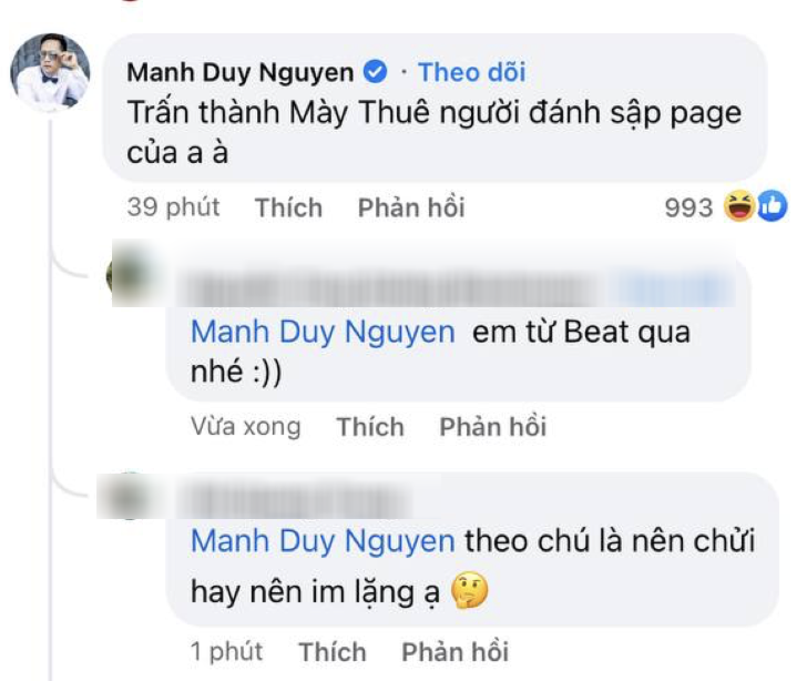 Độc Quyền: Rộ nghi vấn Duy Mạnh tố Thuỷ Tiên - Trấn Thành đánh sập Facebook cá nhân, chính chủ lên tiếng! - Ảnh 3.