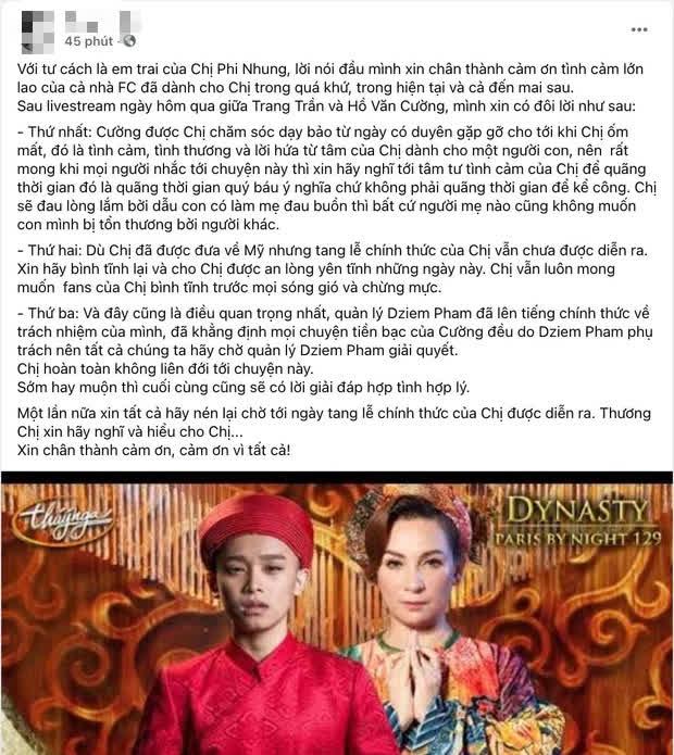 Em trai Phi Nhung làm rõ thái độ giữa loạt ồn ào tiền bạc: Lần này chị về sẽ mãi mãi ở lại với cháu em, không ai giành chị đi được nữa - Ảnh 3.