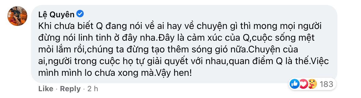 Netizen nghi Lệ Quyên ẩn ý nhắc tới lùm xùm cát-xê Hồ Văn Cường, chính chủ lên tiếng đính chính ngay! - Ảnh 3.