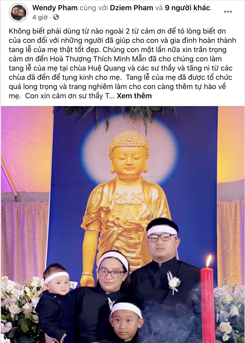 Con gái Phi Nhung nói lời cảm ơn sau khi hoàn tất tang lễ, cầu xin khán giả một điều cuối cùng liên quan đến mẹ - Ảnh 2.