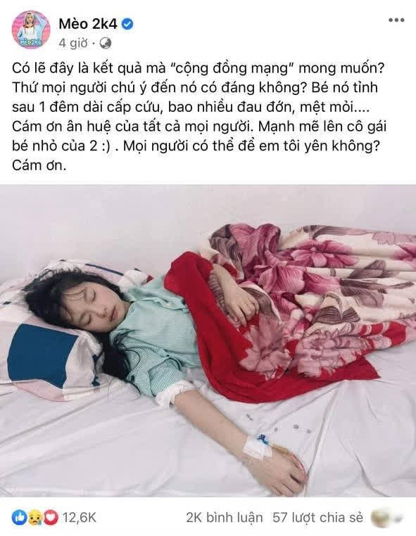 Nữ streamer Mèo 2k4 bất ngờ xuất hiện trên giường bệnh cấp cứu sau ồn ào nghi vấn lộ clip nóng!