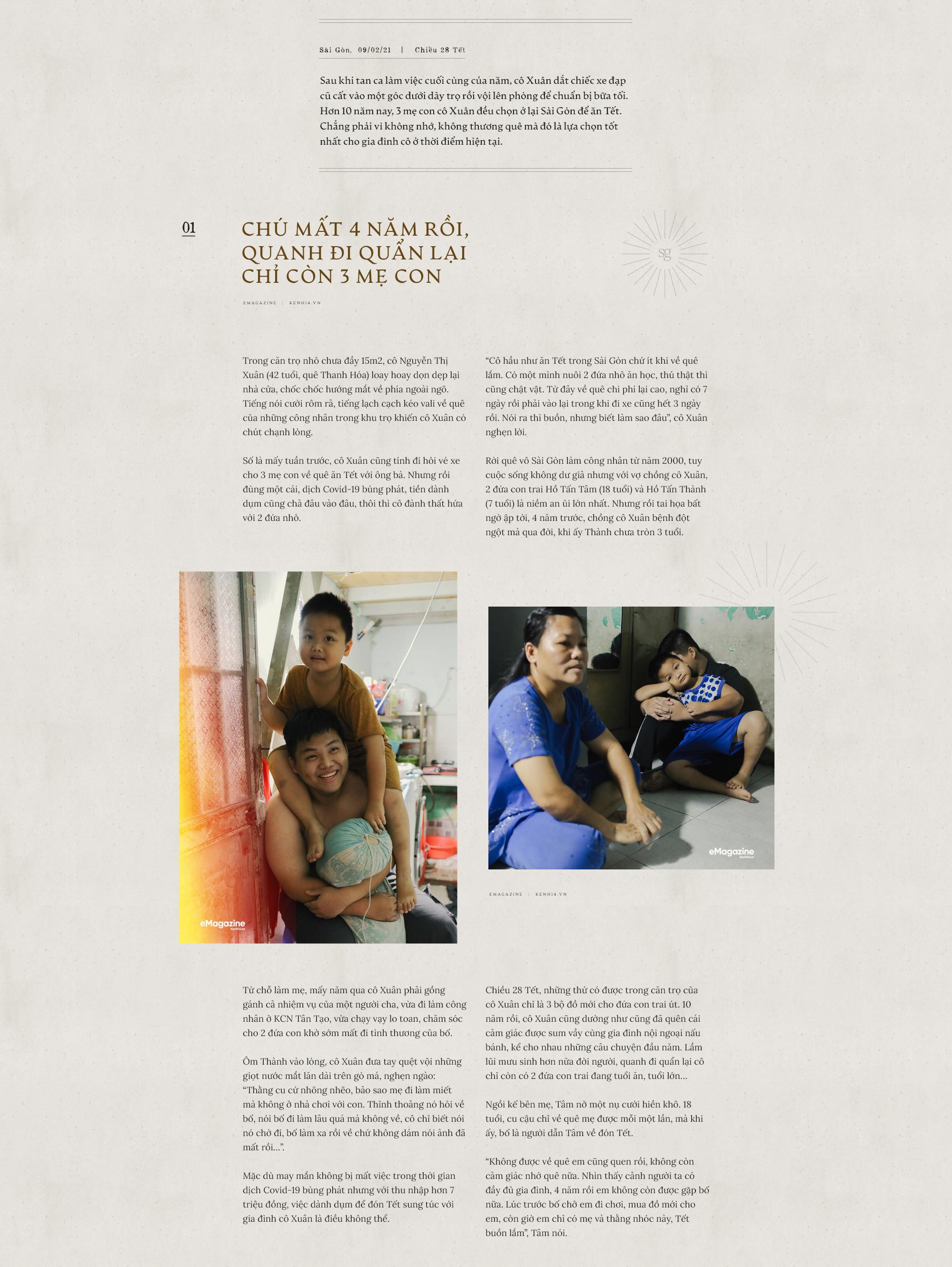 Chuyện những người công nhân ở lại Sài Gòn ăn Tết: Rồi ai cũng có Tết, chỉ cần cả gia đình ở bên nhau... - Ảnh 1.