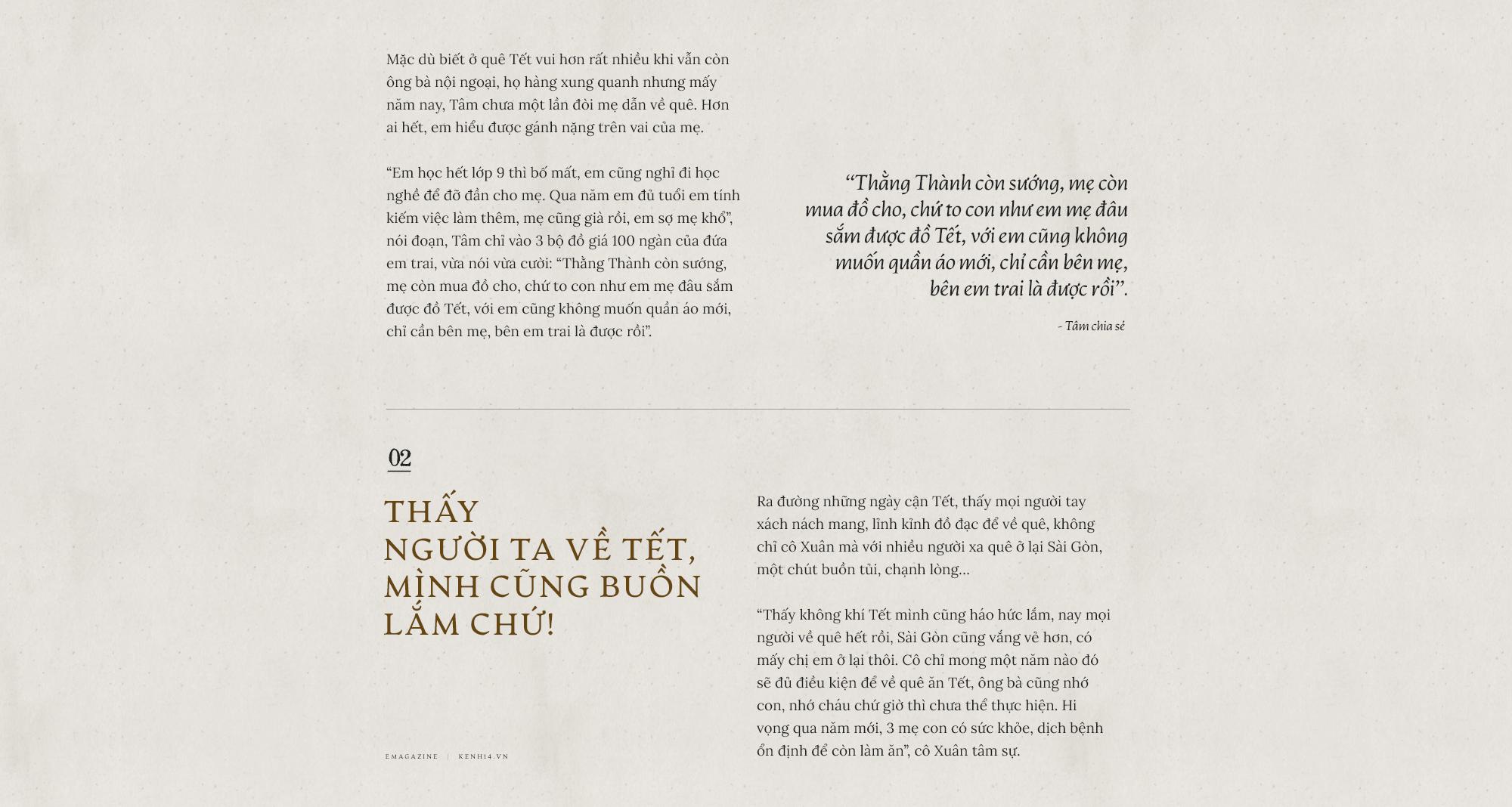 Chuyện những người công nhân ở lại Sài Gòn ăn Tết: Rồi ai cũng có Tết, chỉ cần cả gia đình ở bên nhau... - Ảnh 3.