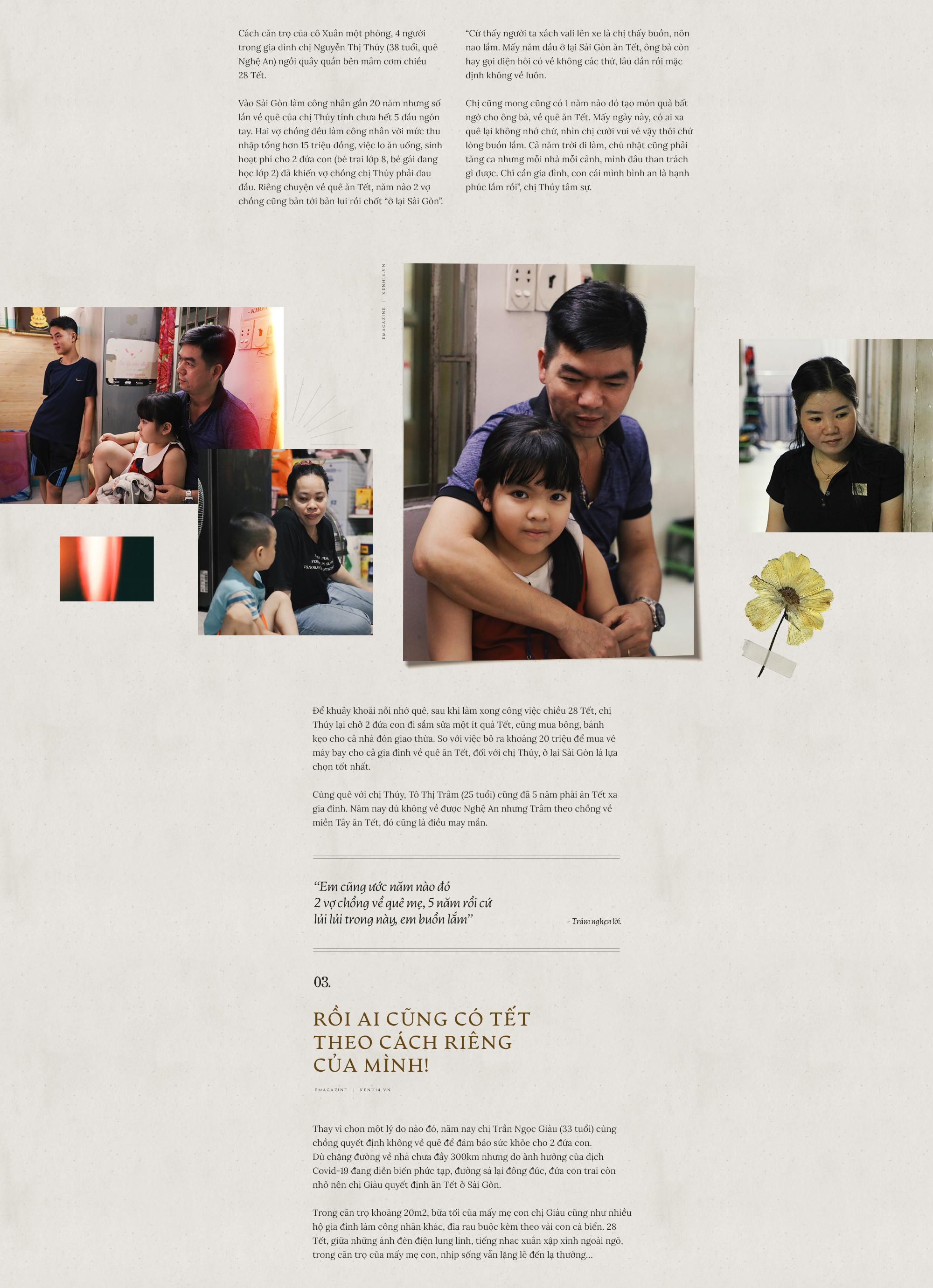 Chuyện những người công nhân ở lại Sài Gòn ăn Tết: Rồi ai cũng có Tết, chỉ cần cả gia đình ở bên nhau... - Ảnh 5.