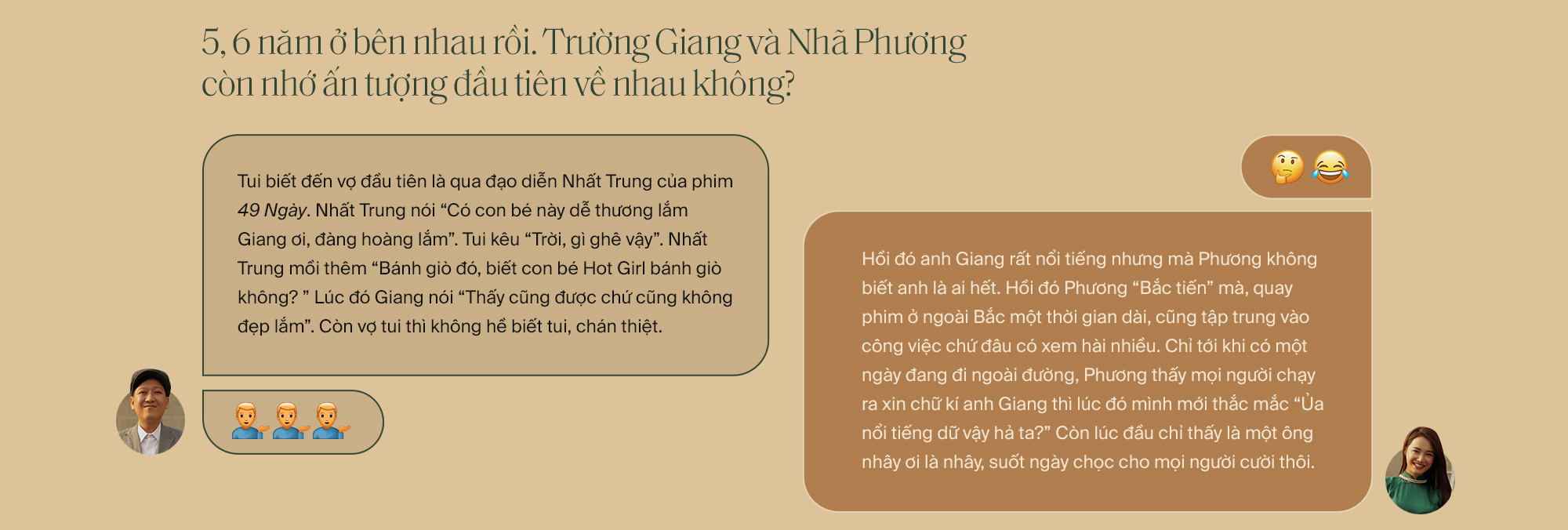 """Lần đầu tiên kể từ khi yêu nhau, Trường Giang - Nhã Phương cùng trả lời phỏng vấn: """"Vợ tui sướng nhất quận Phú Nhuận luôn"""" - Ảnh 3."""