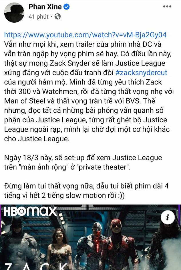 Đạo diễn Trạng Tí lại vạ miệng khiến netizen Việt đòi tẩy chay phim khi cà khịa bom tấn Justice League sắp chiếu - ảnh 1