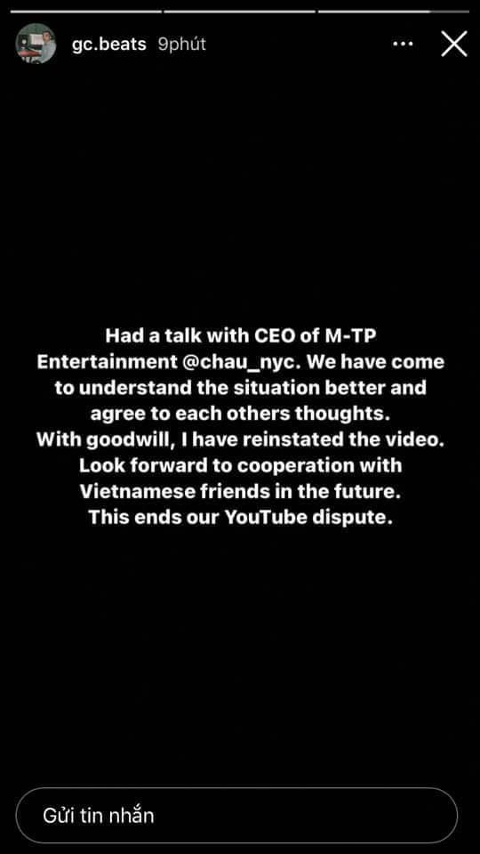 Producer GC đã trao đổi trực tiếp với CEO của công ty Sơn Tùng, drama đạo nhạc Chúng Ta Của Hiện Tại tạm hạ màn! - ảnh 1