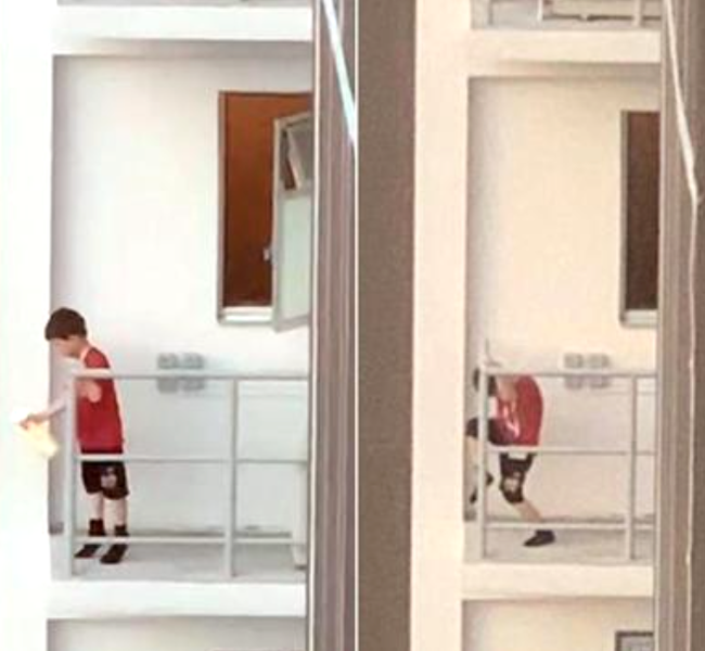 Cậu bé 7 tuổi trèo ra rìa ban công tầng 11 khiến ai nấy sợ hơn xem phim kinh dị, nguyên nhân hành động này cảnh báo cách dạy con của bố mẹ - Ảnh 2.