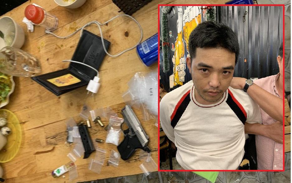 Bắt đối tượng bị truy nã, thu giữ ma túy, súng và nhiều hung khí nguy hiểm