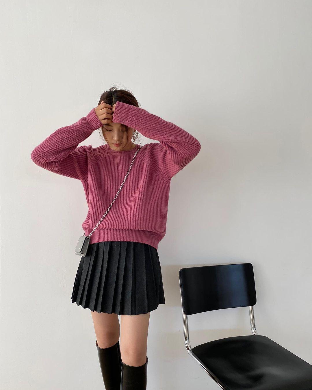 Diện váy theo những công thức chuẩn Hàn này là suốt mấy ngày Tết bạn sẽ đều có outfit đẹp để du Xuân - Ảnh 8.