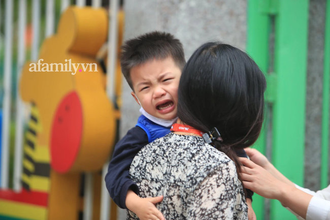 Vừa buồn cười vừa thương khi xem loạt ảnh trẻ mầm non khóc mếu, dỗi ra mặt trong ngày đầu đi học lại: Đang yên đang lành lại bắt dậy sớm! - Ảnh 1.