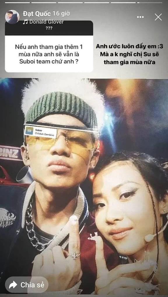 Suboi nhiều khả năng sẽ không trở lại Rap Việt mùa 2 002