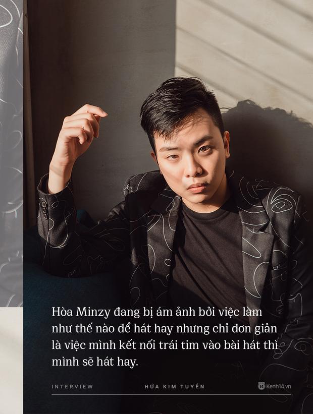 Hòa Minzy khiến hết Văn Mai Hương đến Hứa Kim Tuyền lo lắng về chuyện quá cầu toàn giọng hát 003